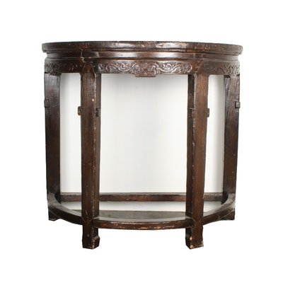 Antique Demilune Console Table