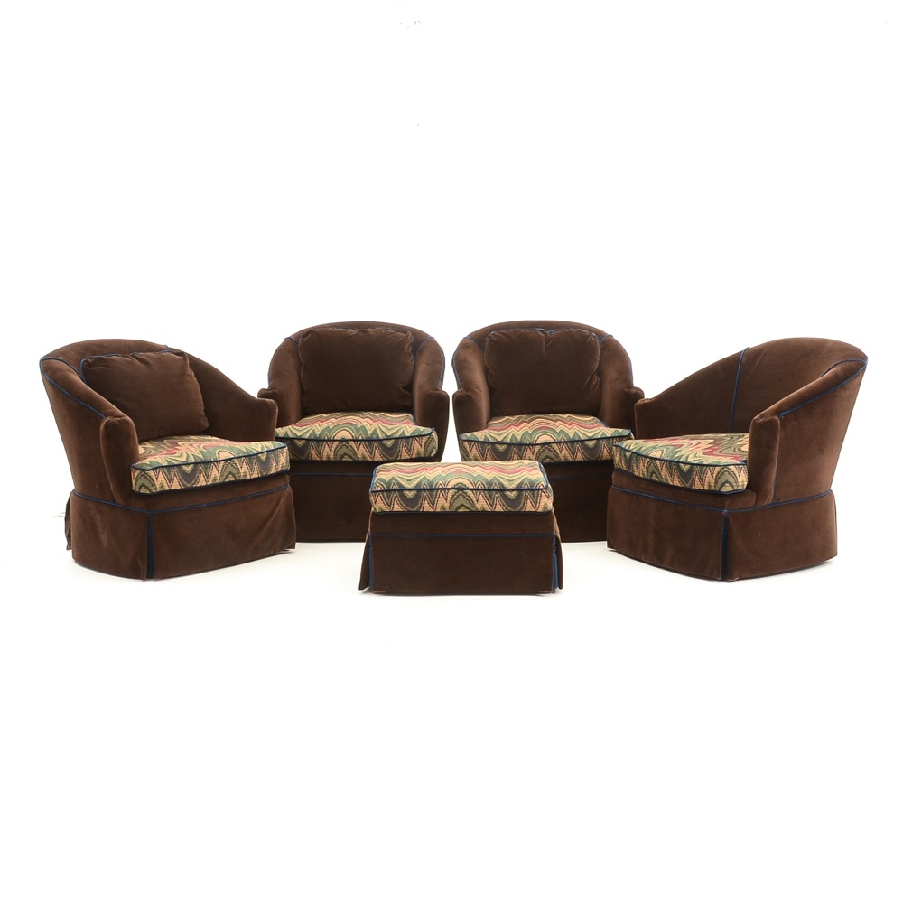 Set of Swivel Armchairs