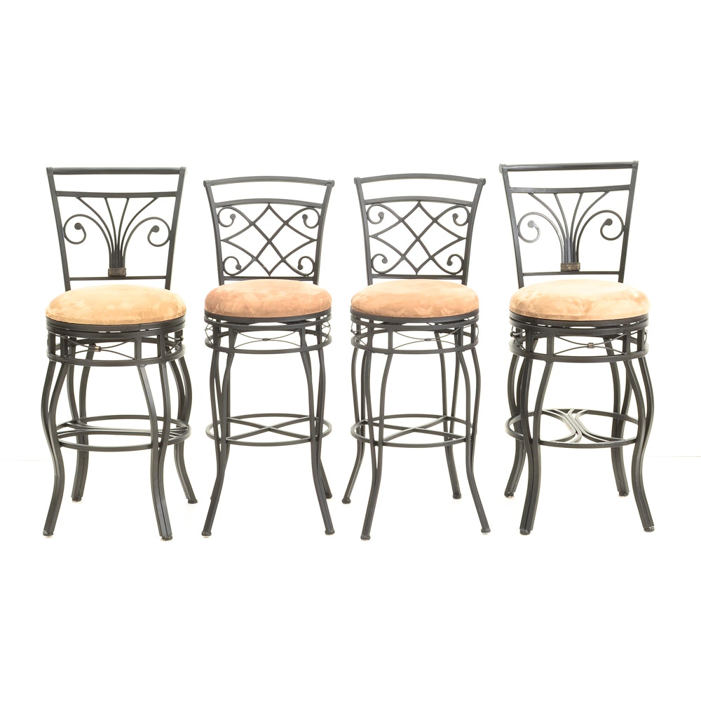 Ballard Designs French Country Rush Seat Bar Stools Ebth