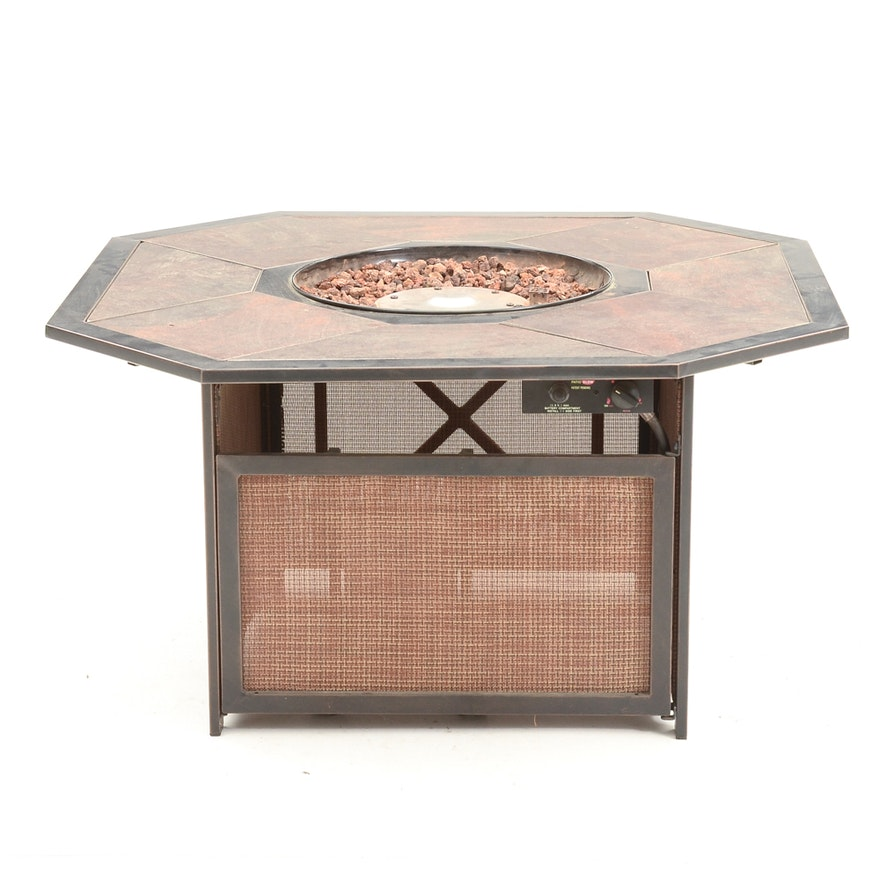 Patio Glow Propane Fire Pit EBTH - Octagon propane fire pit table