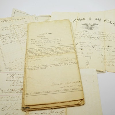 Copies of Civil War Muster Rolls and Correspondence