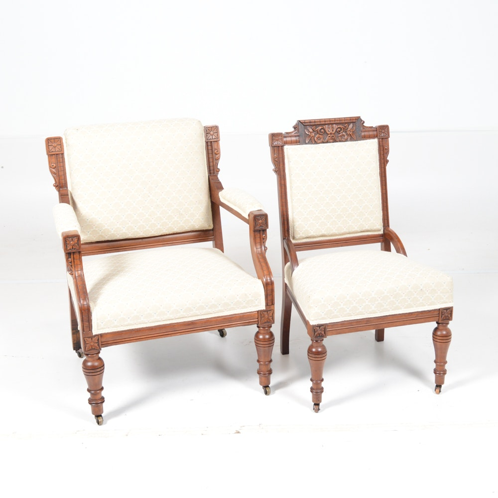 Antique Eastlake Chairs; 1x1 ...