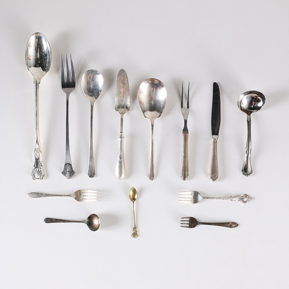 Assorted Silver Plate Flatware Featuring Godinger