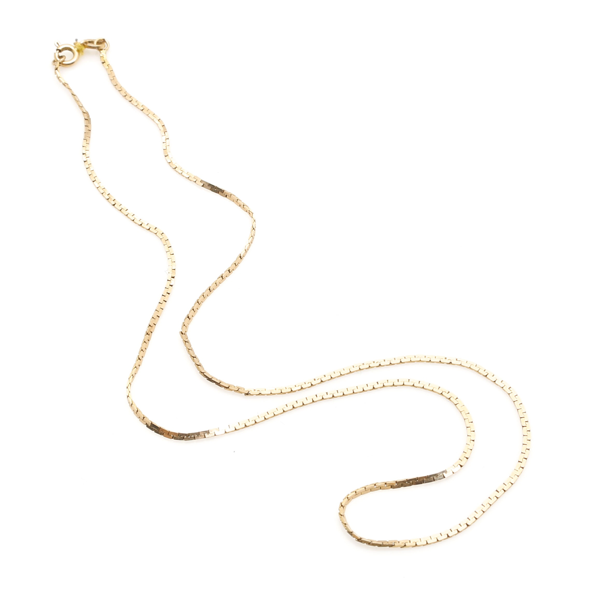 14K Yellow Gold C-Link Chain Necklace