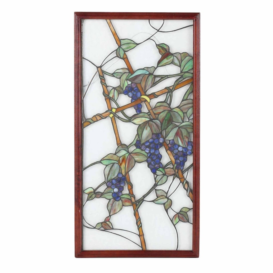 Framed Stained Glass Panel : EBTH