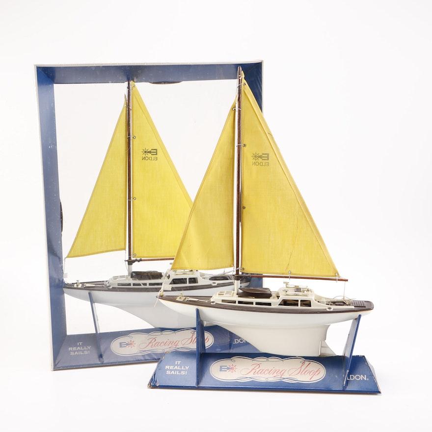 1960s Eldon Racing Sloop Toy Sail Boats