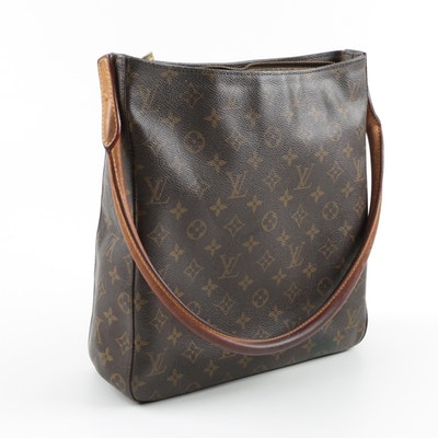 43248a77dfa6 2001 Louis Vuitton Monogrammed Canvas Looping Handle Tote