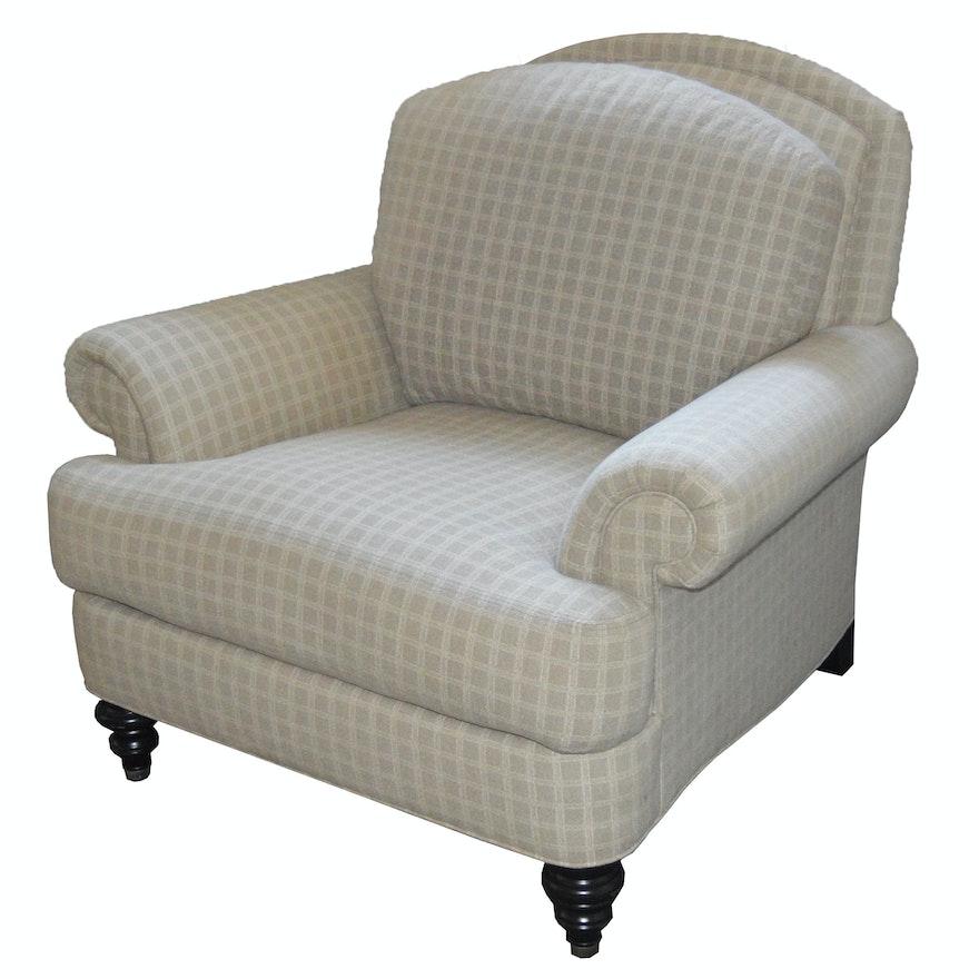 Ethan Allen Upholstered Hyde Armchair