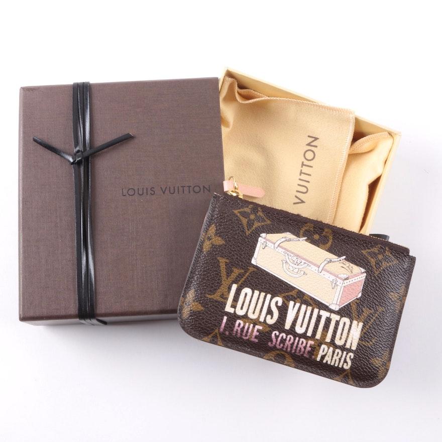 9854c57b6f76 Limited Edition Louis Vuitton I. Rue Scribe Paris Monogrammed Key Pouch :  EBTH