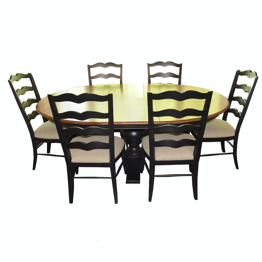 """""""Cooper"""" Dining Table And Six """"Chapelle"""" Chairs By Ethan"""