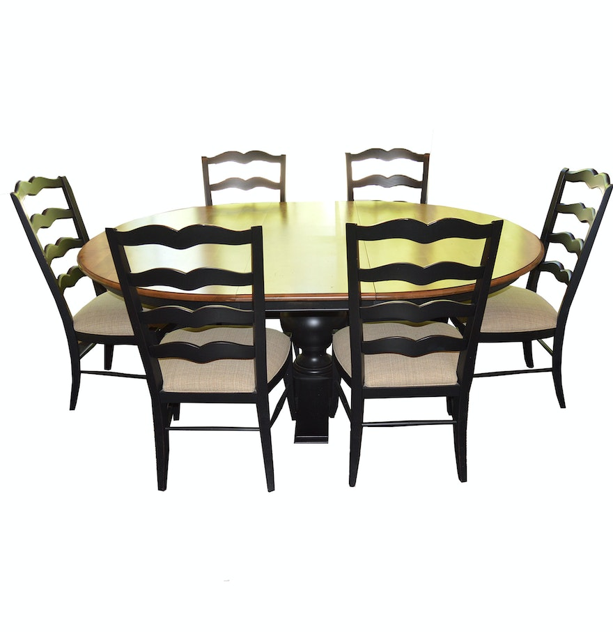 Quot Cooper Quot Dining Table And Six Quot Chapelle Quot Chairs By Ethan