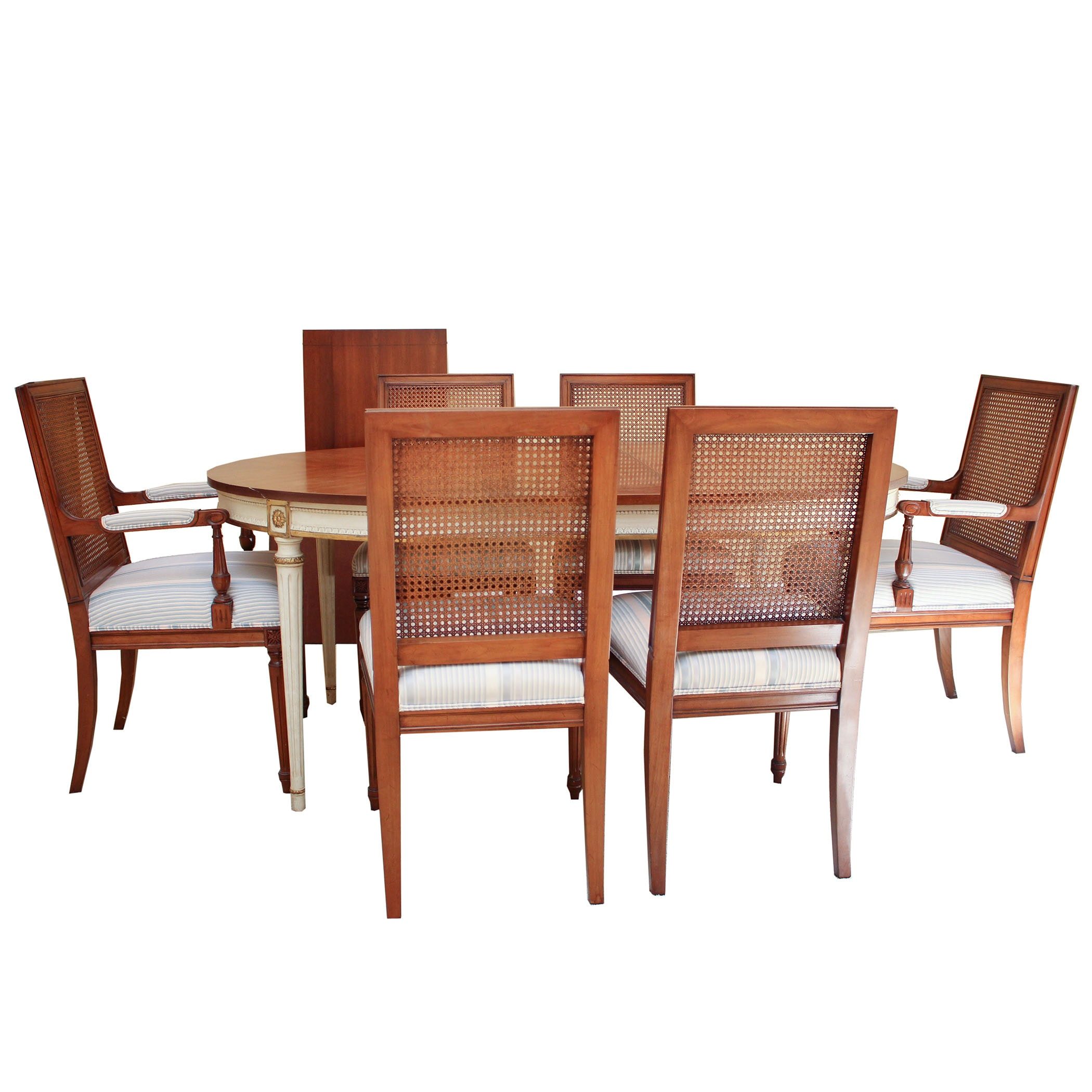 Dining Room Table Set with Chairs and Leaves