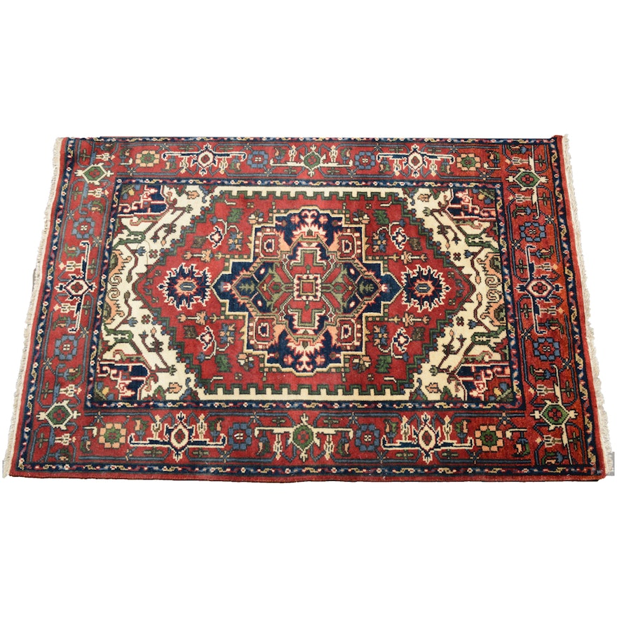 Hand Knotted Indo Persian Obeetee Wool Area Rug Ebth: Hand-Knotted Indo-Persian Bakshaish Heriz Caucasian Rug : EBTH