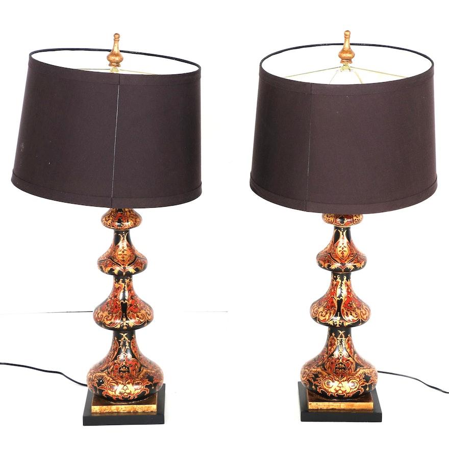 Bradburn Gallery Spade Pattern Table Lamps Ebth