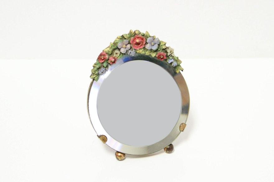 Vintage Floral Barbola Mirrors Ebth