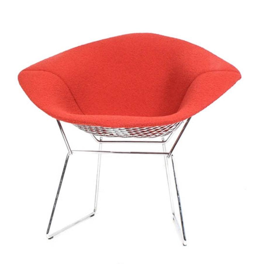 Bertoia diamond chair dimensions - Mid Century Modern Red Diamond Chair By Harry Bertoia