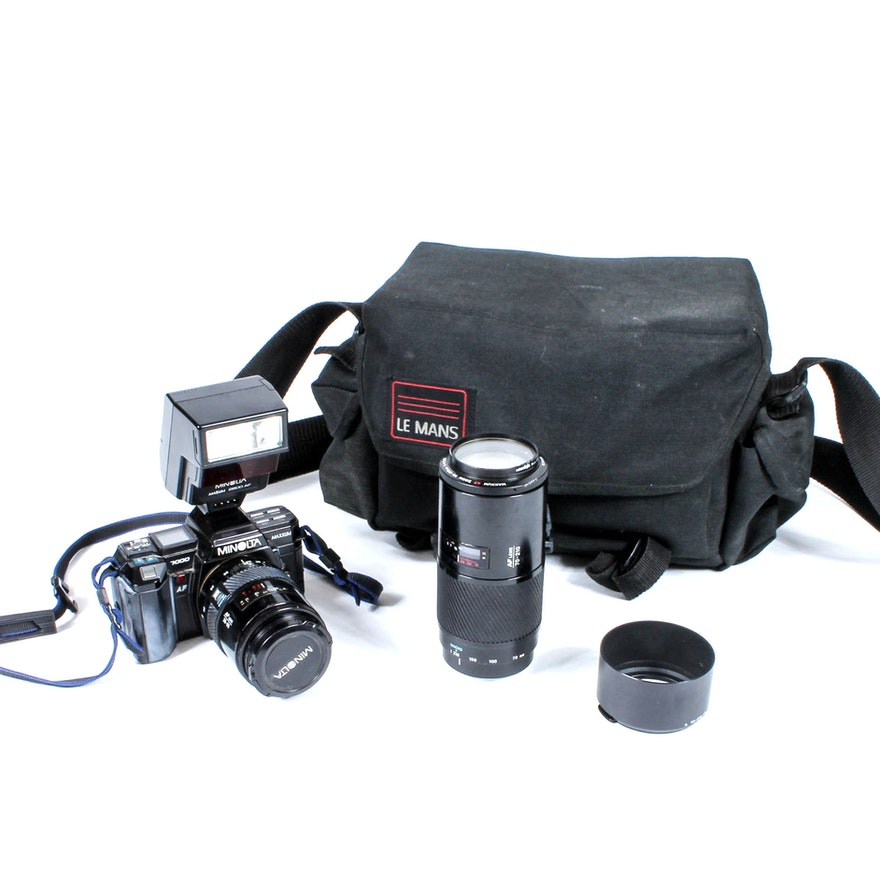 Minolta Maxxum 7000 Camera And Accessories EBTH