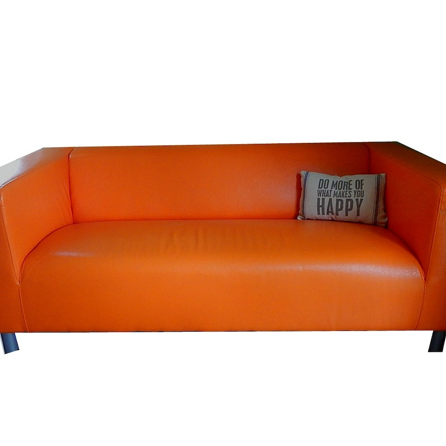 Orange Ikea Sofa Karlstad Sofa Bed Husie Orange Ikea Fun