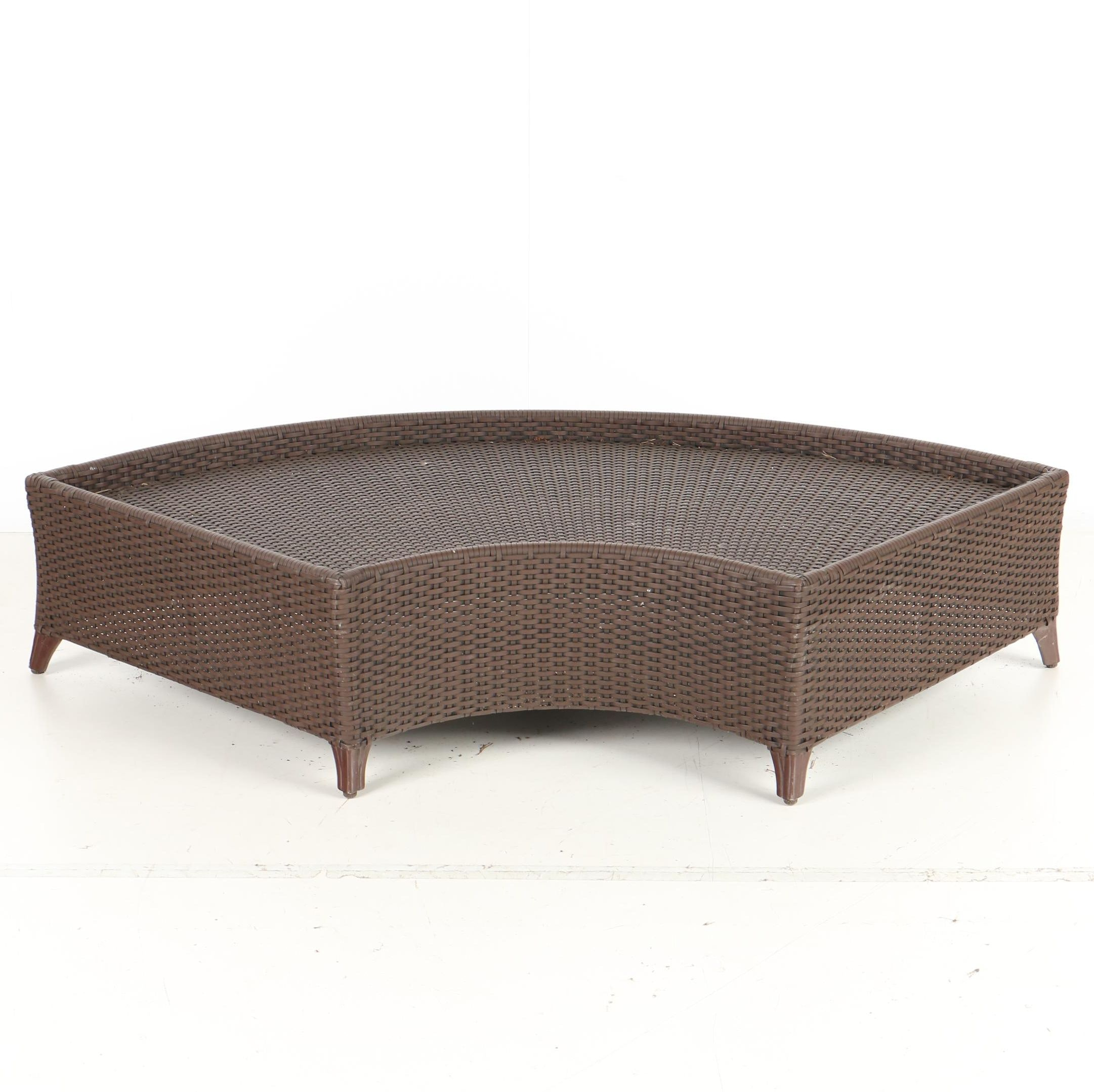 Superbe Curved Wicker Patio Bench ...