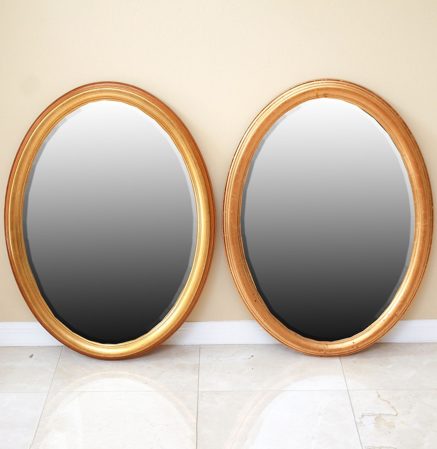Contemporary Oval Mirrors By The Bombay Company EBTH - Contemporary oval mirrors