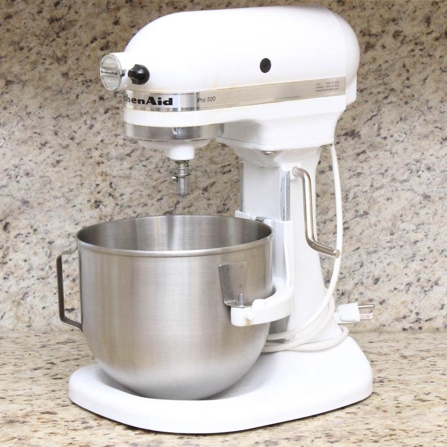 White KitchenAid Pro 500 Stand Mixer : EBTH on kitchenaid pro 550, yamaha pro 500, tri-tronics pro 500, kitchenaid attachments pro, kitchenaid pro 600, hp laserjet pro 500, vitamix pro 500, kitchenaid pro ice cream maker, bel pro 500,