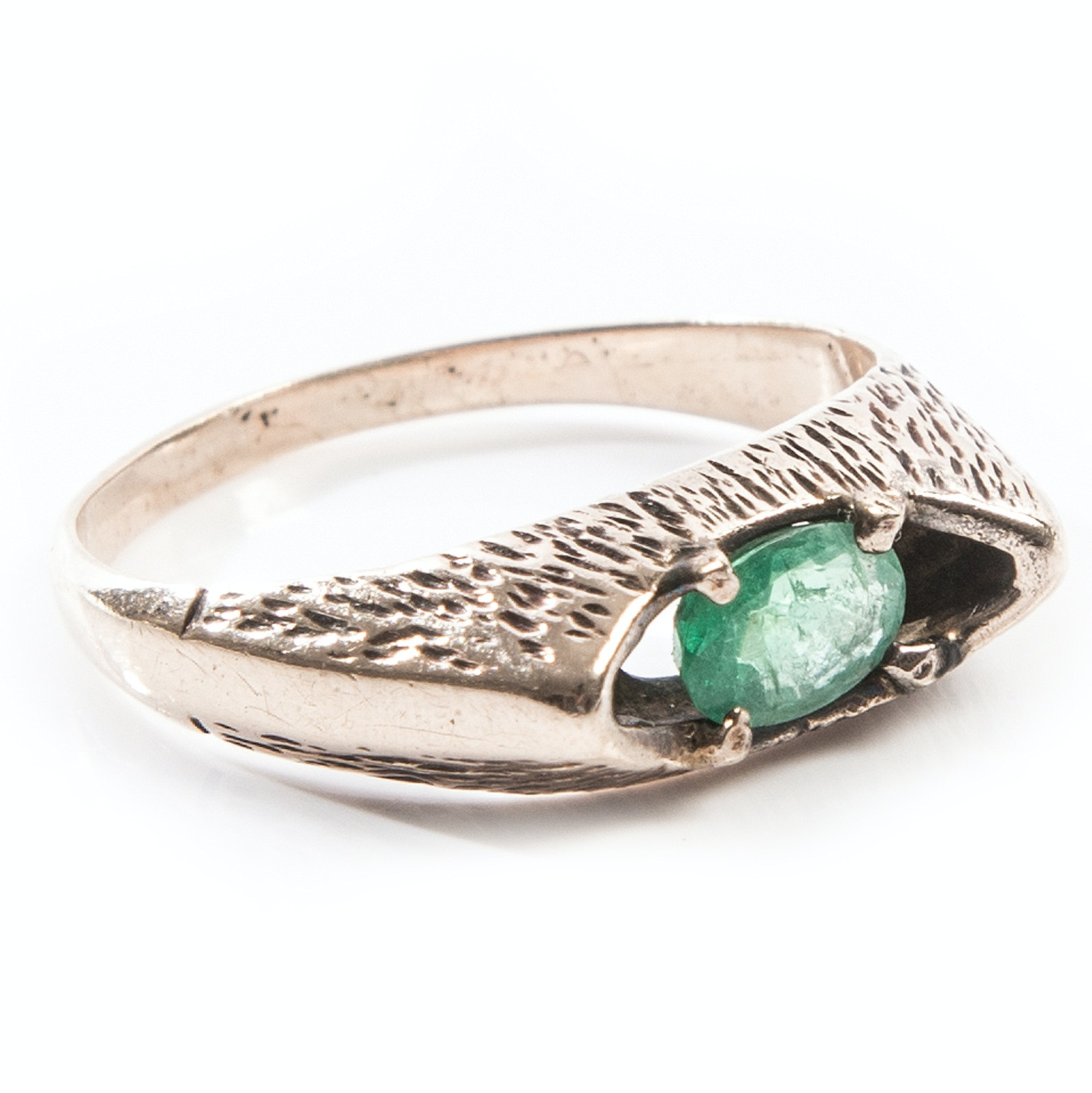 Vintage 14K Yellow Gold and Emerald Ring