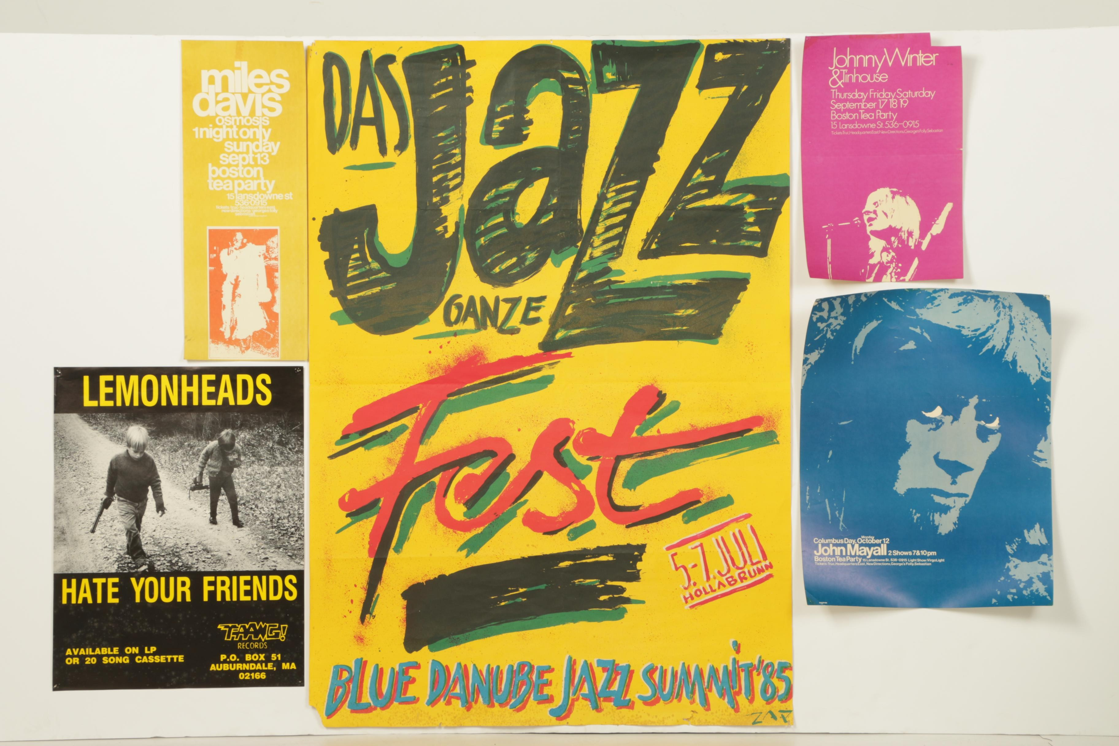 Offset Lithograph Music Posters
