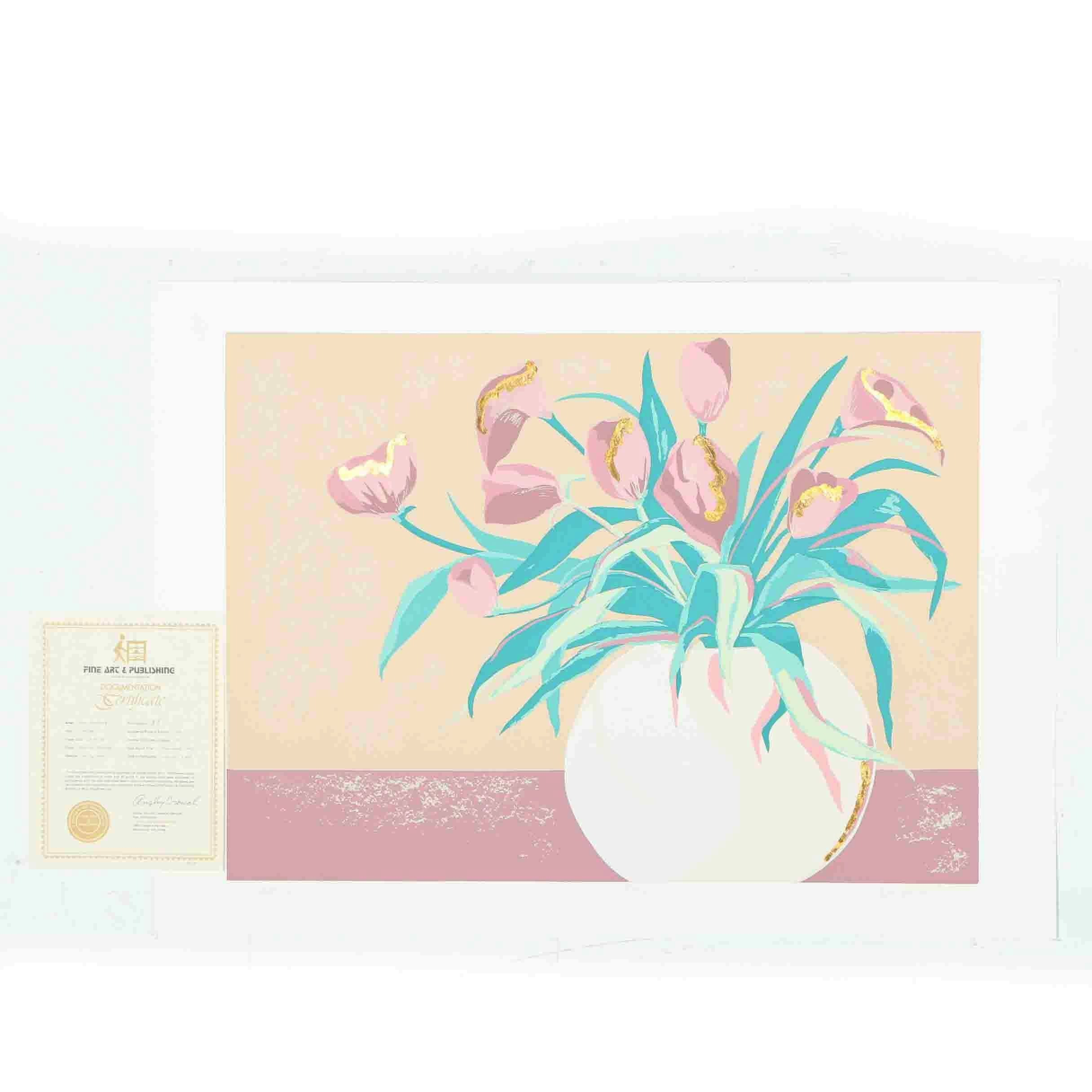 "1986 Ann DerGara Limited Edition Serigraph on Paper ""Spring"""