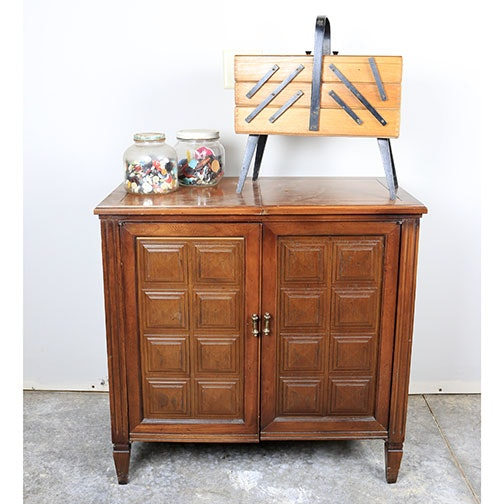 vintage singer sewing machine in cabinet for sale