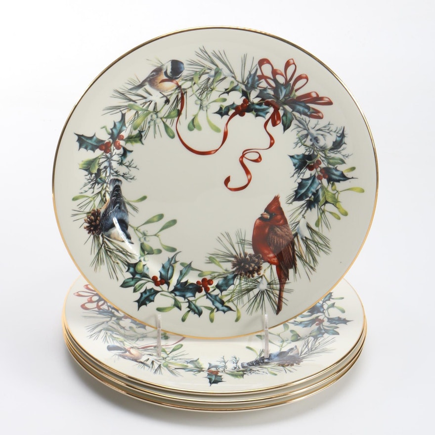 Lenox winter greetings china plates ebth lenox winter greetings china plates m4hsunfo