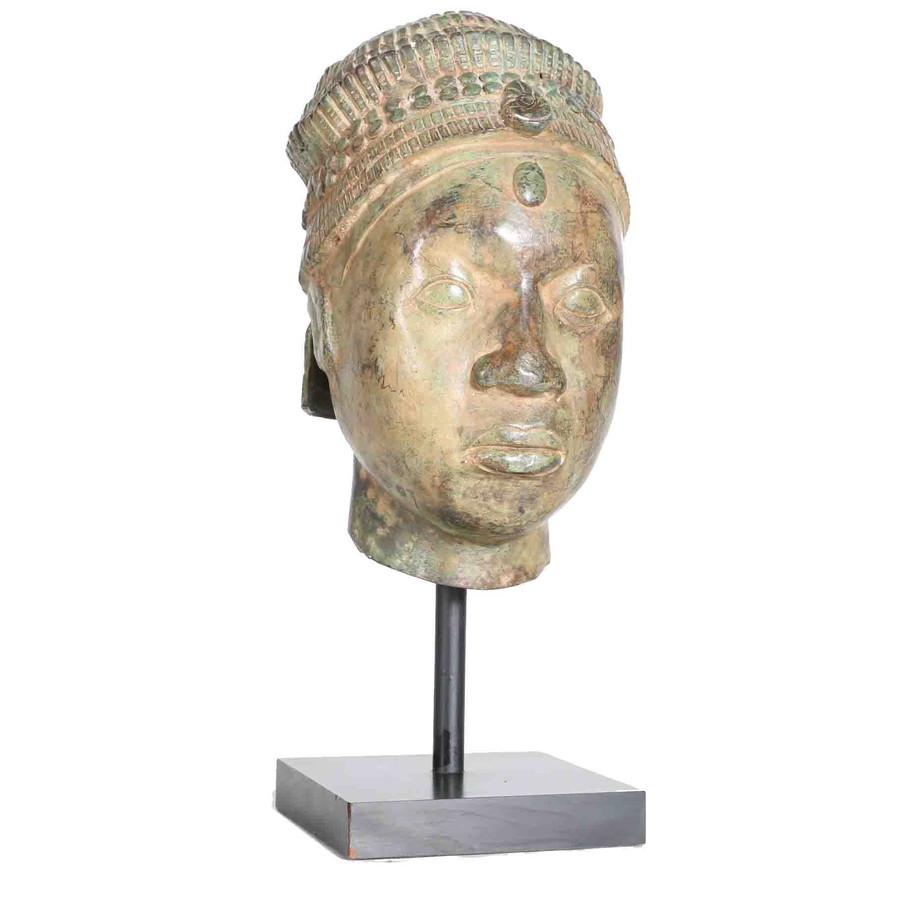 "Sculpture Styled After Yoruban ""Head of a Queen"""