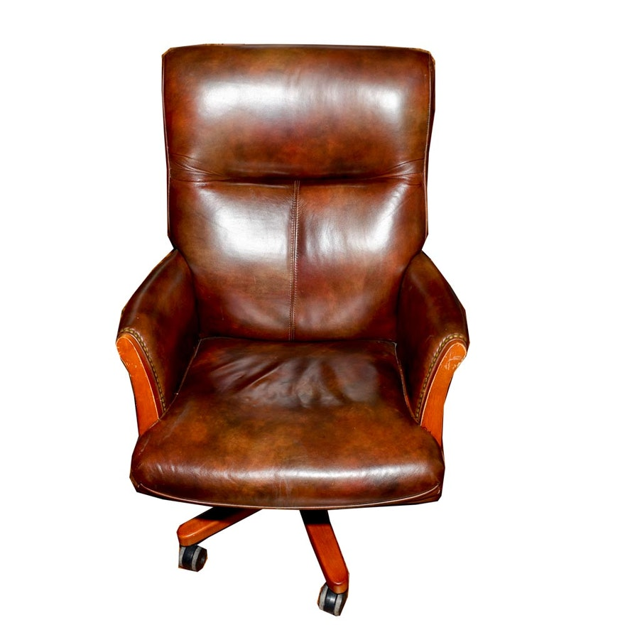 Phenomenal Leather Office Chair By Seven Seas Seating Spiritservingveterans Wood Chair Design Ideas Spiritservingveteransorg