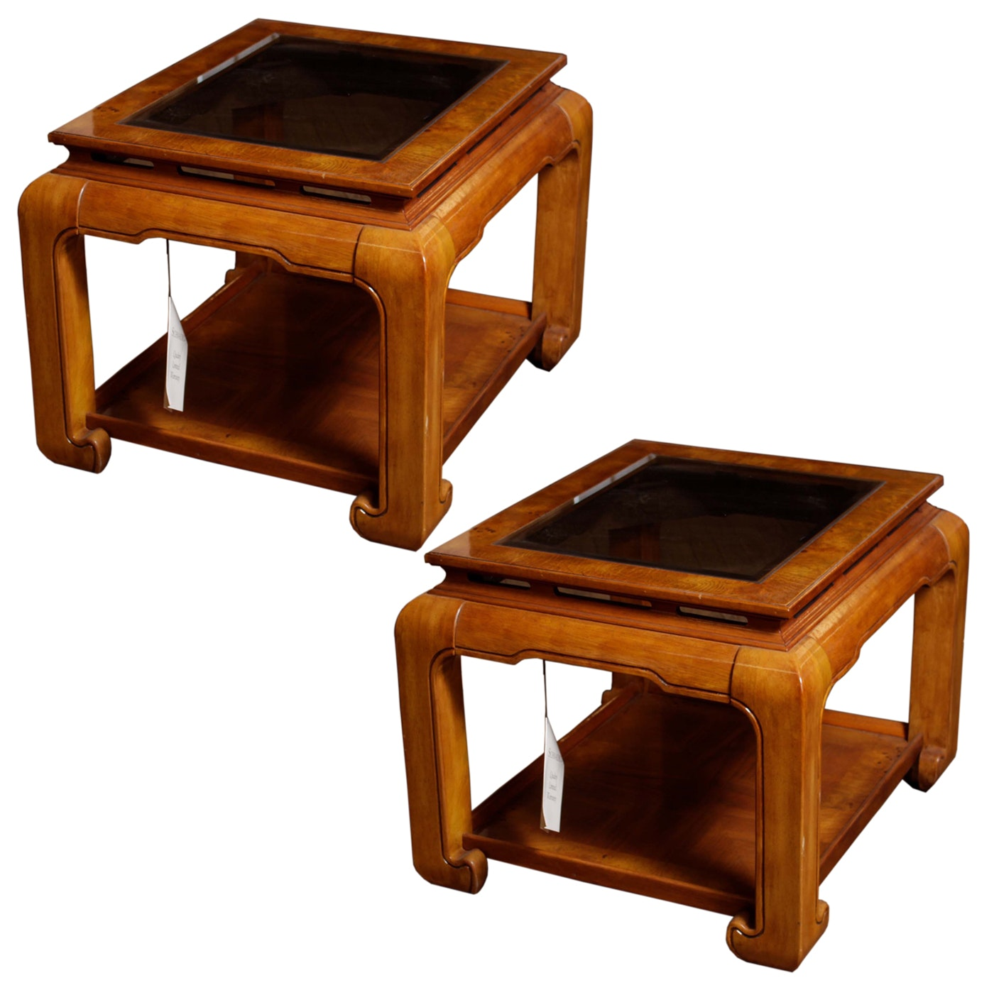 Set Of Schnadig Asian Inspired End Tables ...
