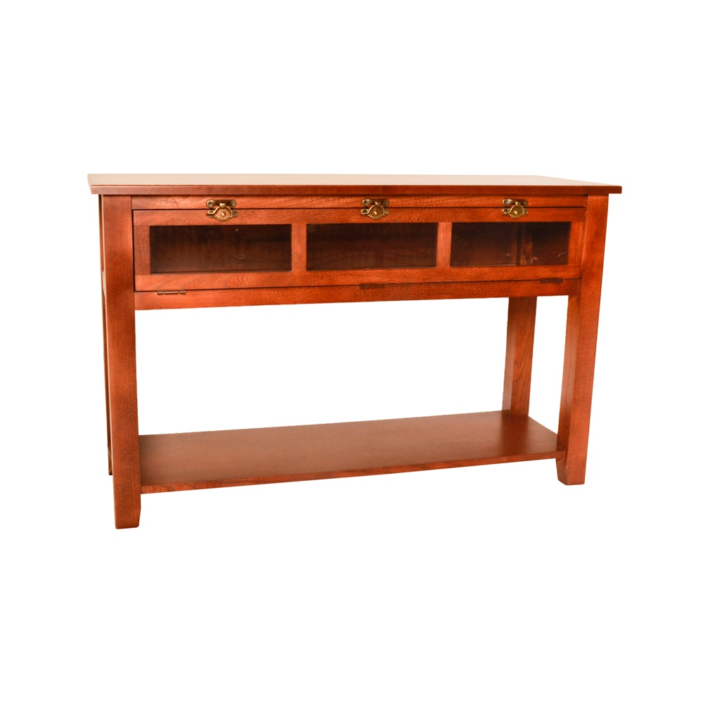 Console Table With Hinged Glass Front EBTH : 180 004jpgixlibrb 11 from www.ebth.com size 880 x 906 jpeg 58kB