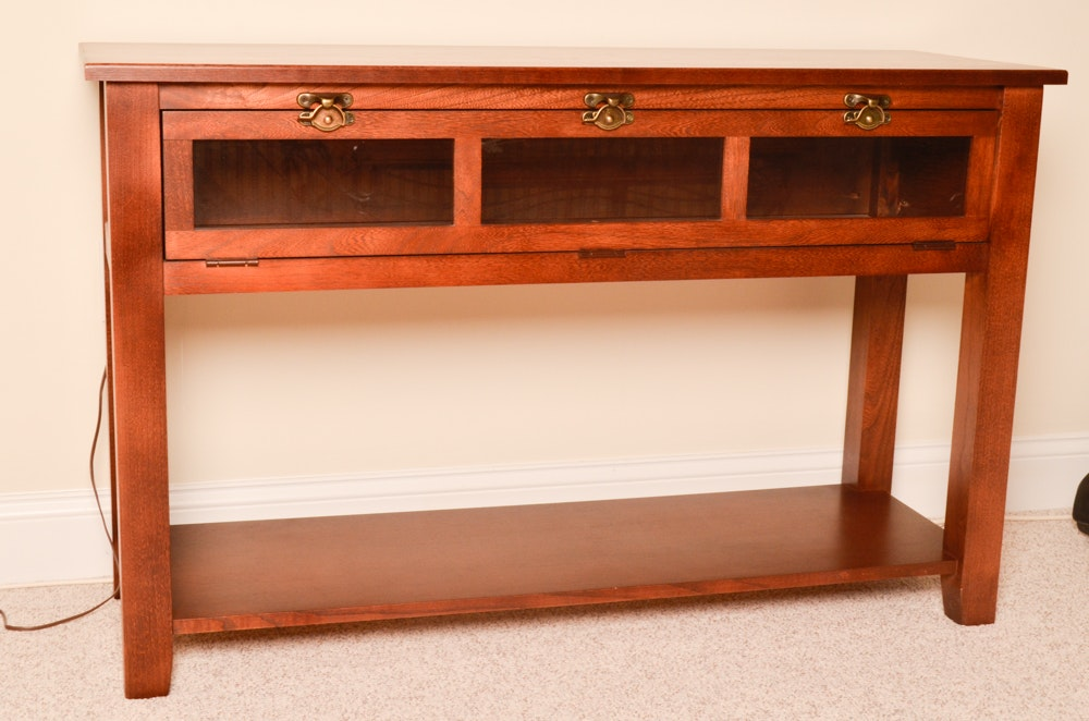 Console Table With Hinged Glass Front EBTH : 180 005jpgixlibrb 11 from www.ebth.com size 1000 x 662 jpeg 109kB