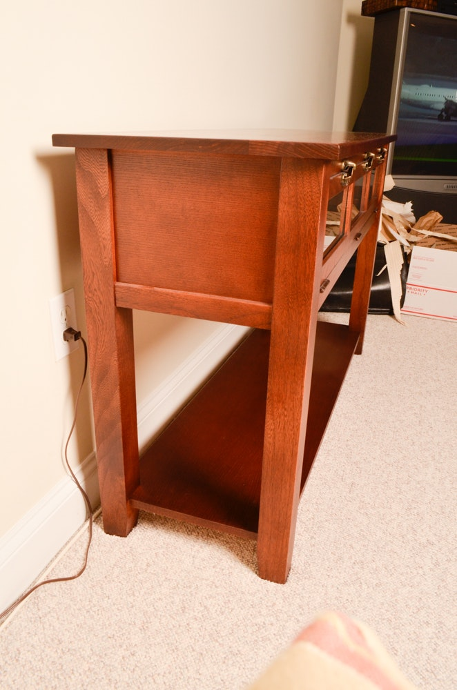 Console Table With Hinged Glass Front Ebth