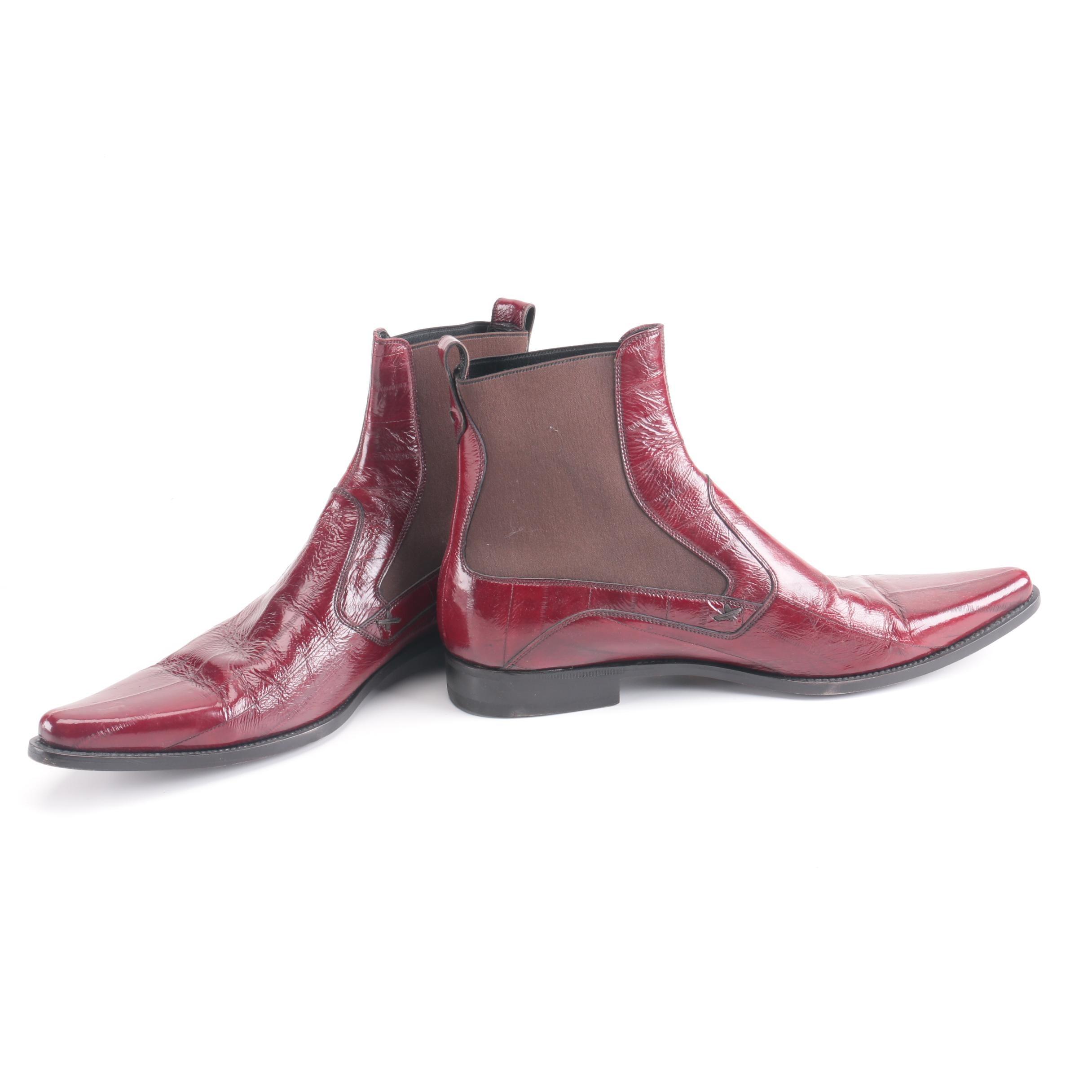 Dolce & Gabbana Eel Skin Boots