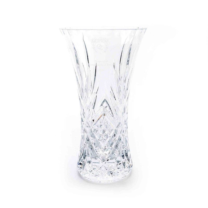 Personalized Crystal Prudential Vase Ebth