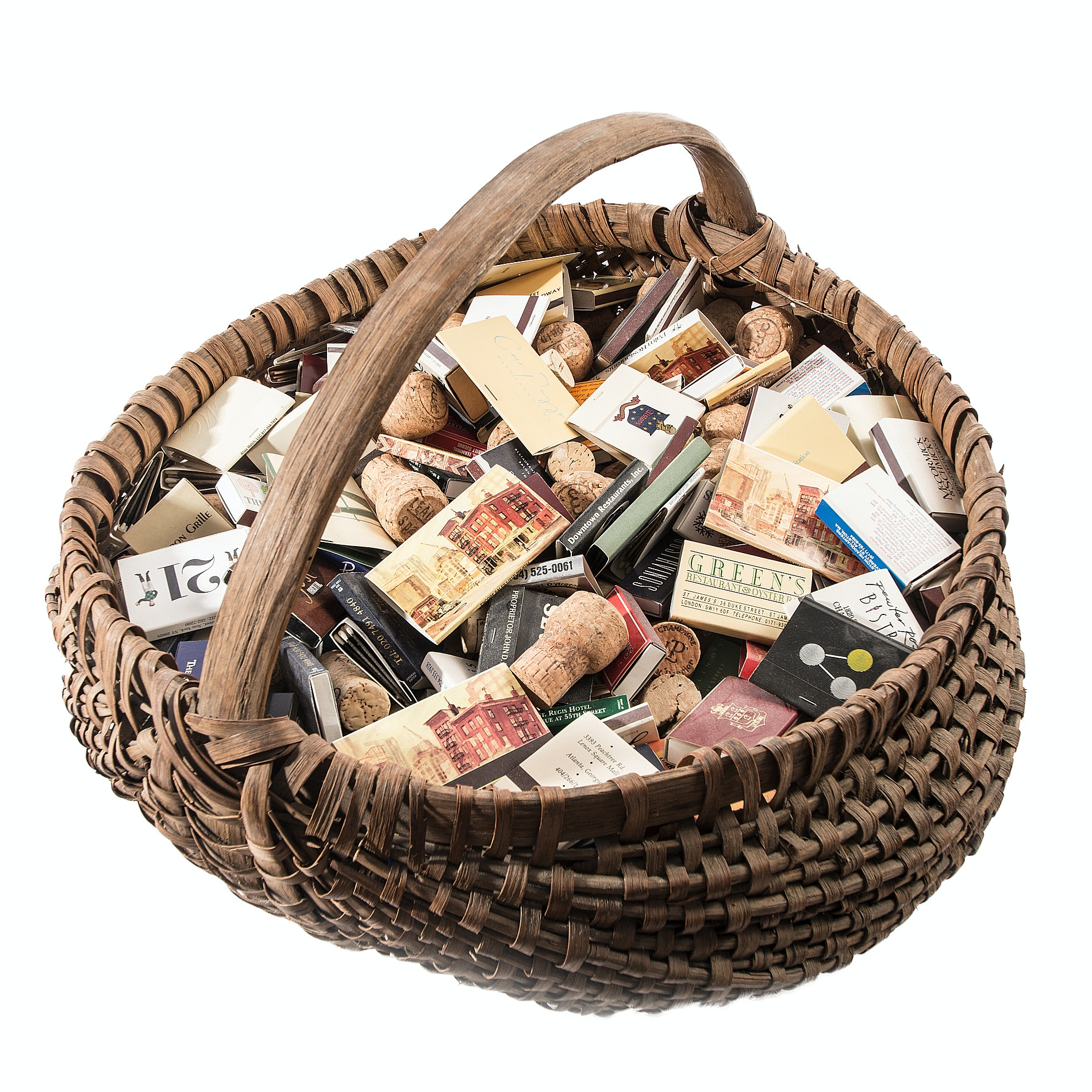 Generous Collection of Matchbooks and Wine Corks