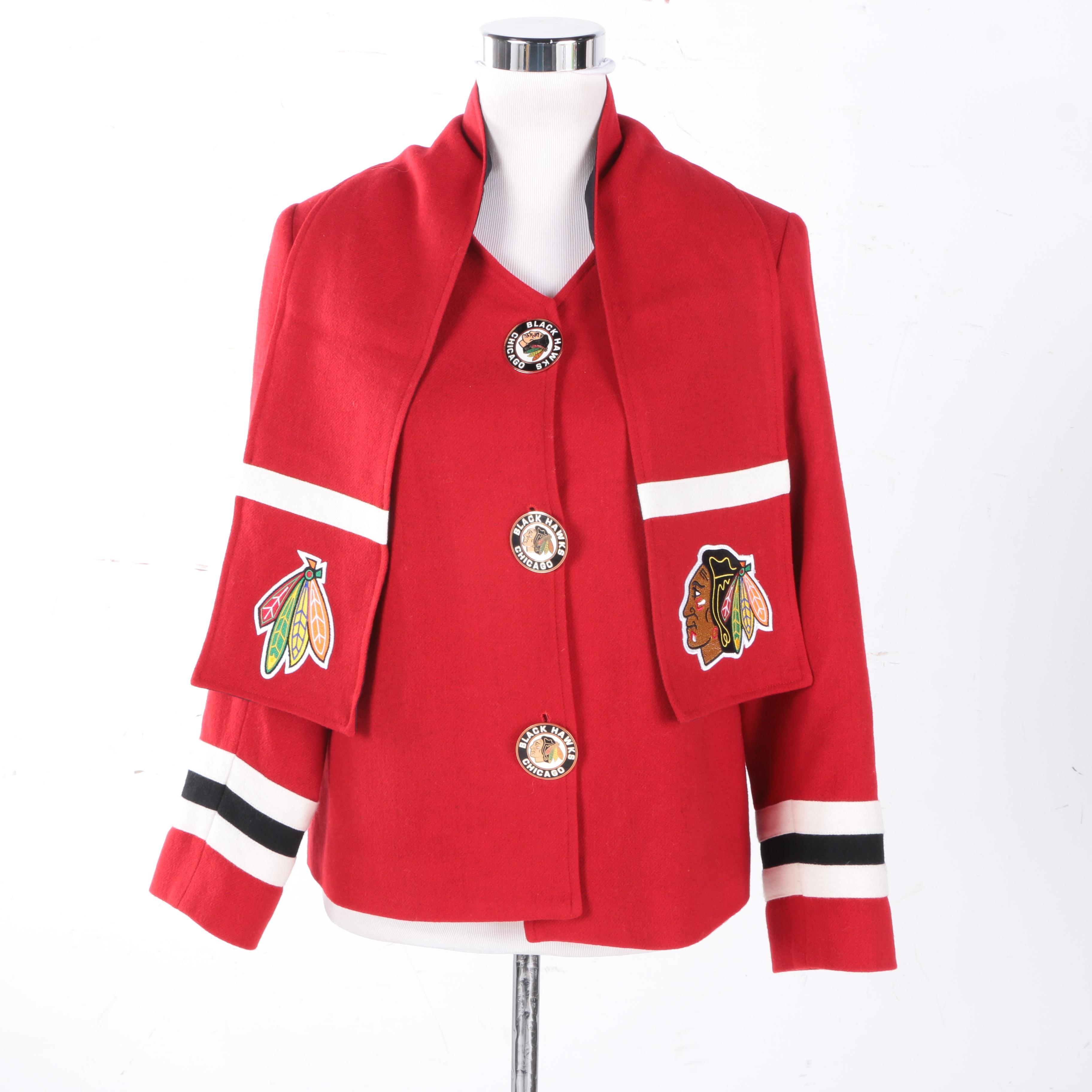 Chicago Blackhawks Coat and Scarf