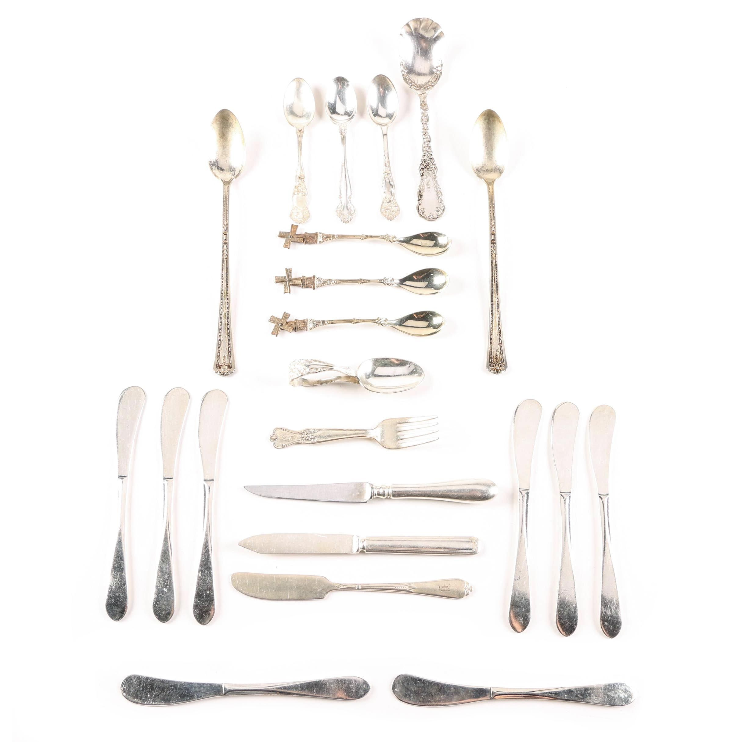 Assortment of Plated Silver Flatware