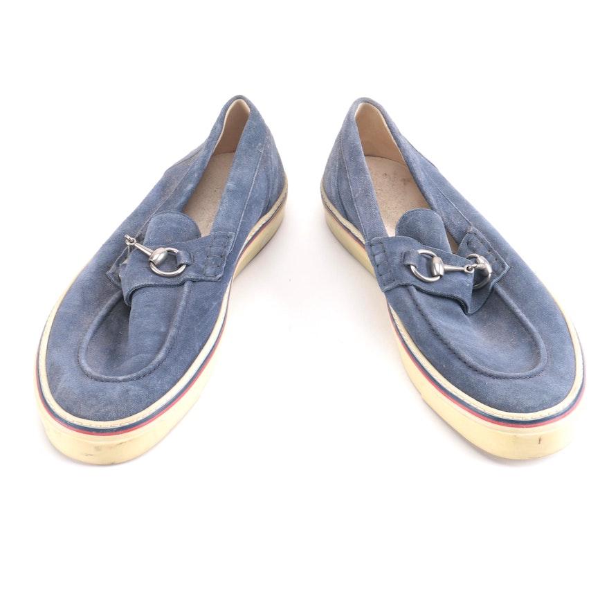 1bc36176f53 Men s Gucci Blue Suede Shoes   EBTH
