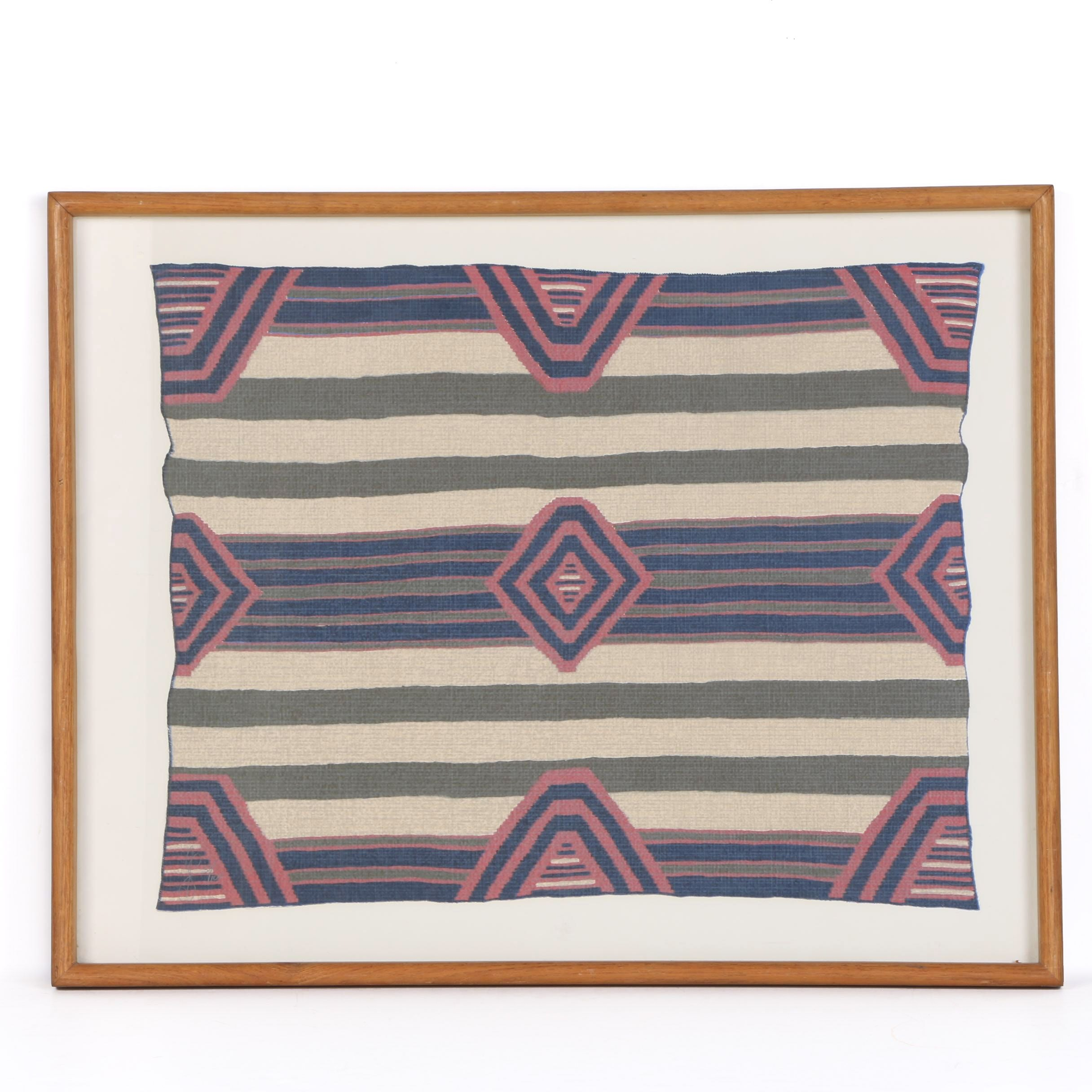 Limited Edition Serigraph on Paper of Navajo Blanket