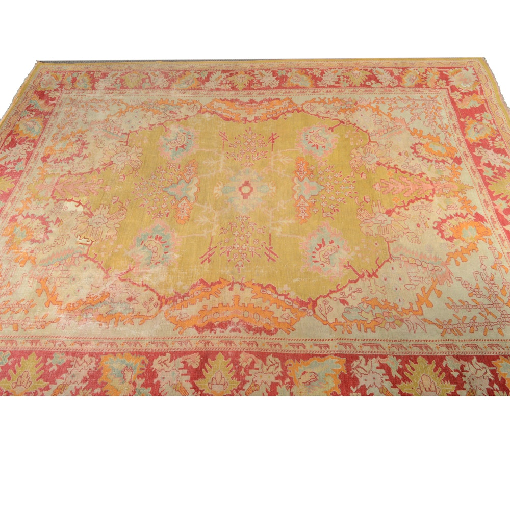 Antique Hand Knotted Turkish Anatolian Area Rug