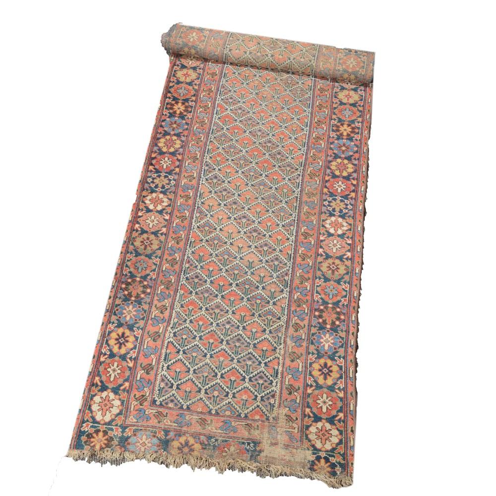 Antique Hand Knotted Turkish Carpet Runner