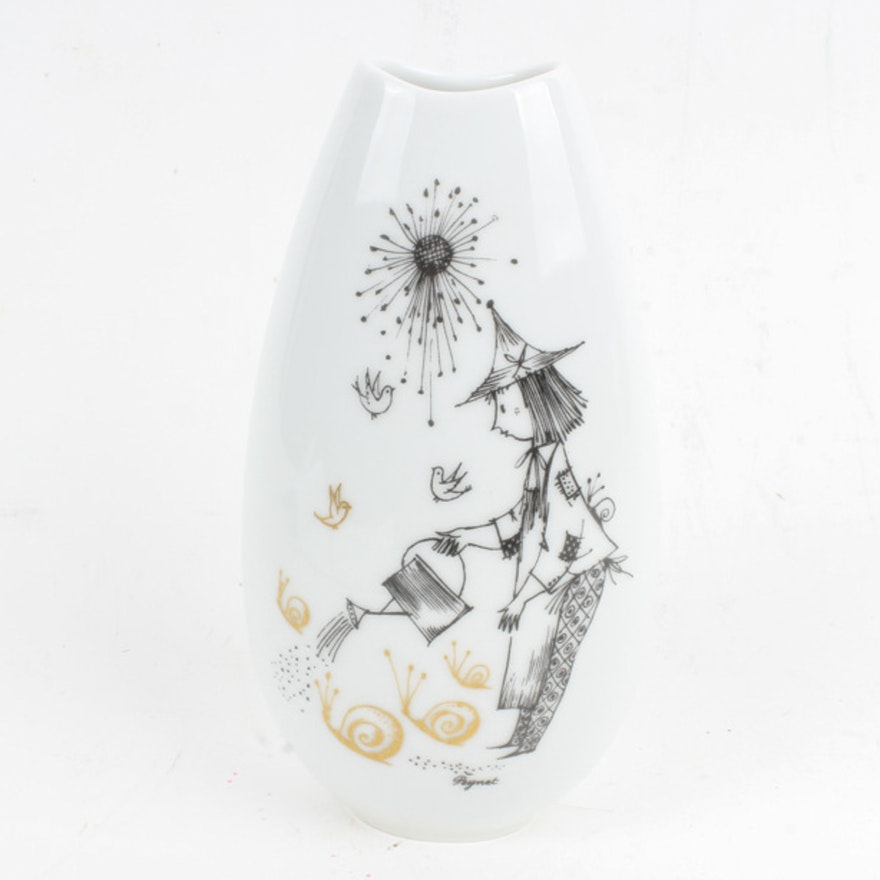 Raymond Peynet For Rosenthal Studio Linie Vase Ebth