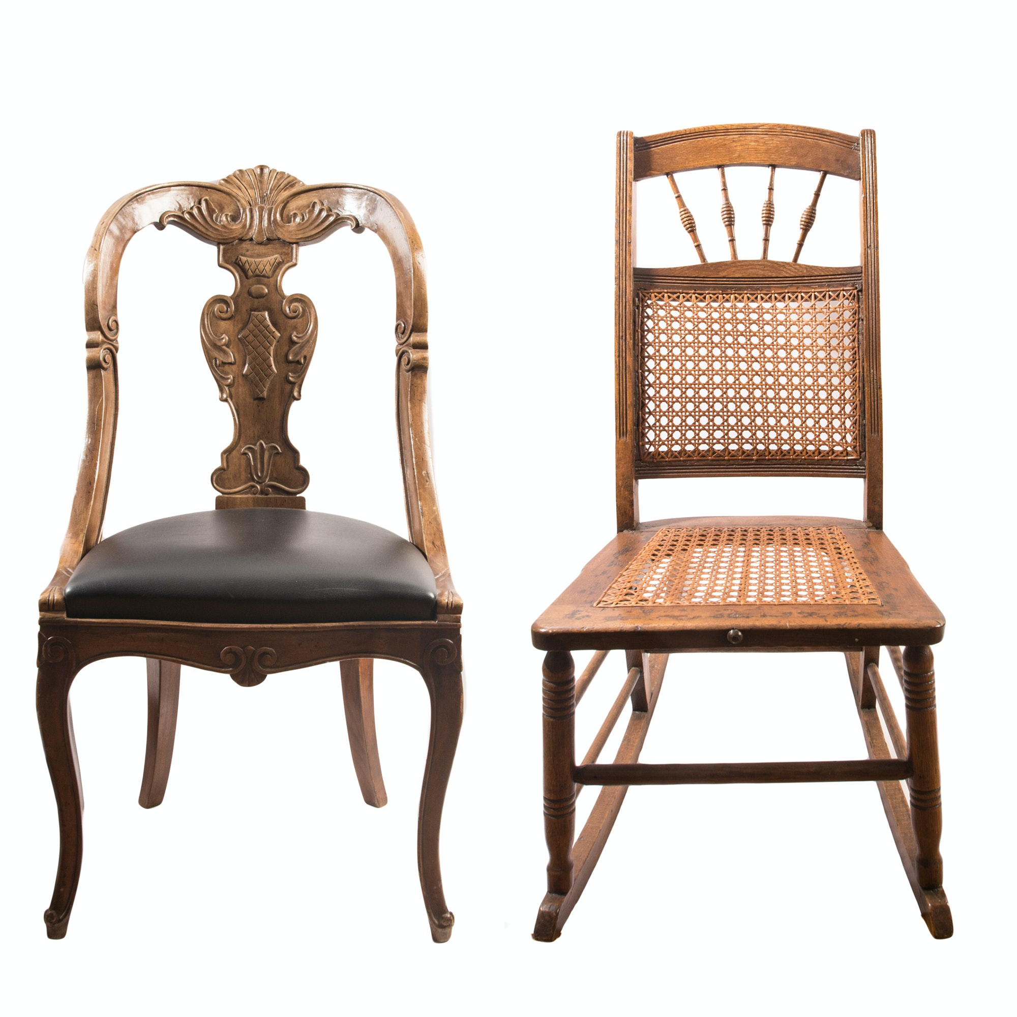Vintage Rocking Chair and Side Chair
