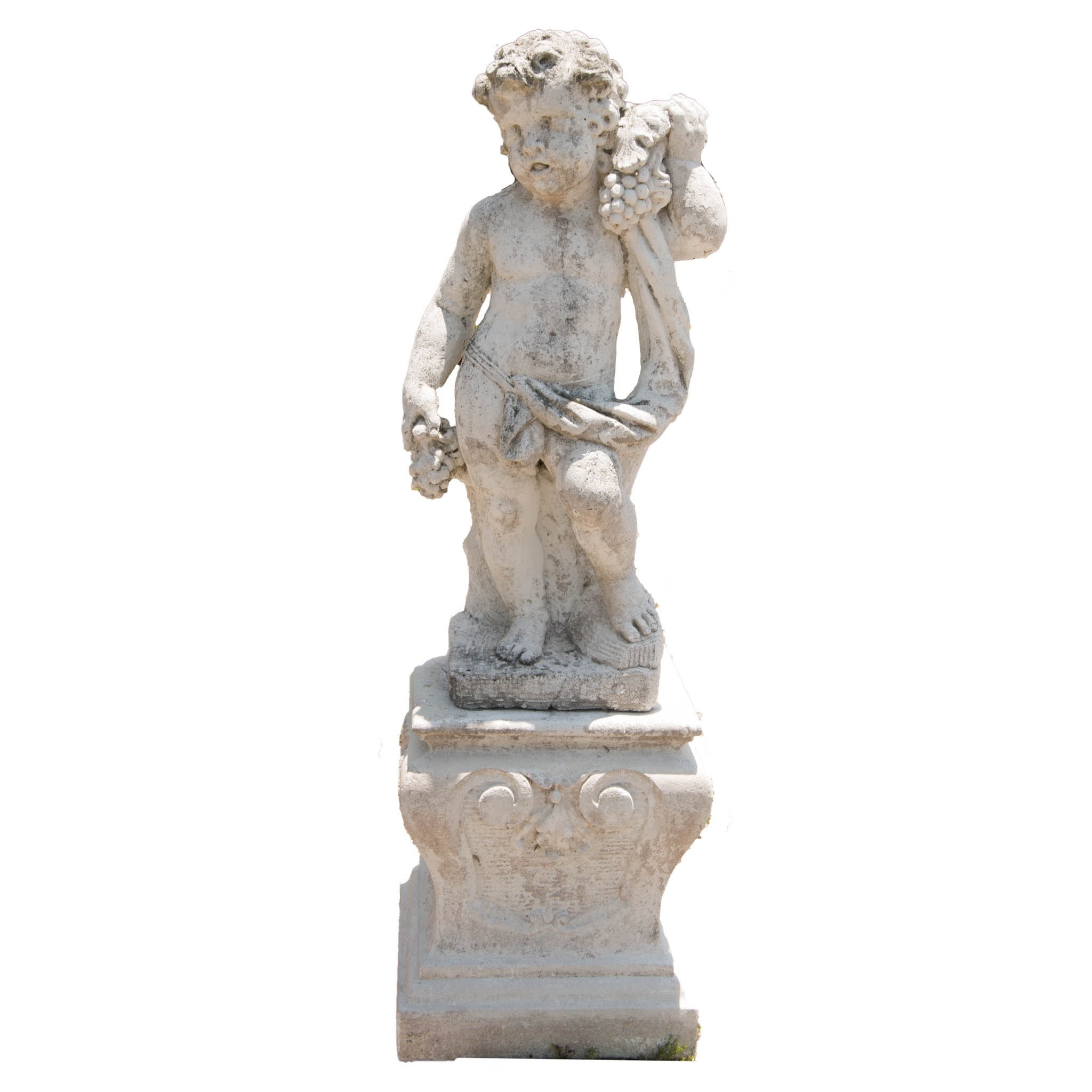 Outdoor Concrete Cherub Statue