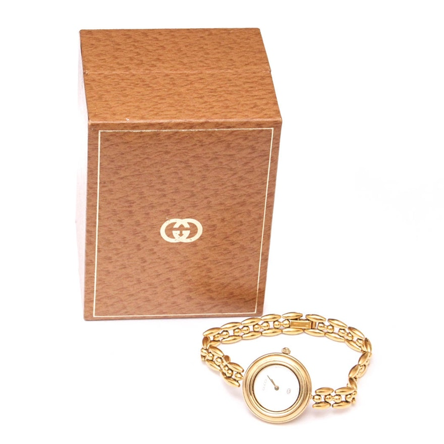 93bf5a2746f Gucci Wristwatch with Interchangeable Bezels   EBTH