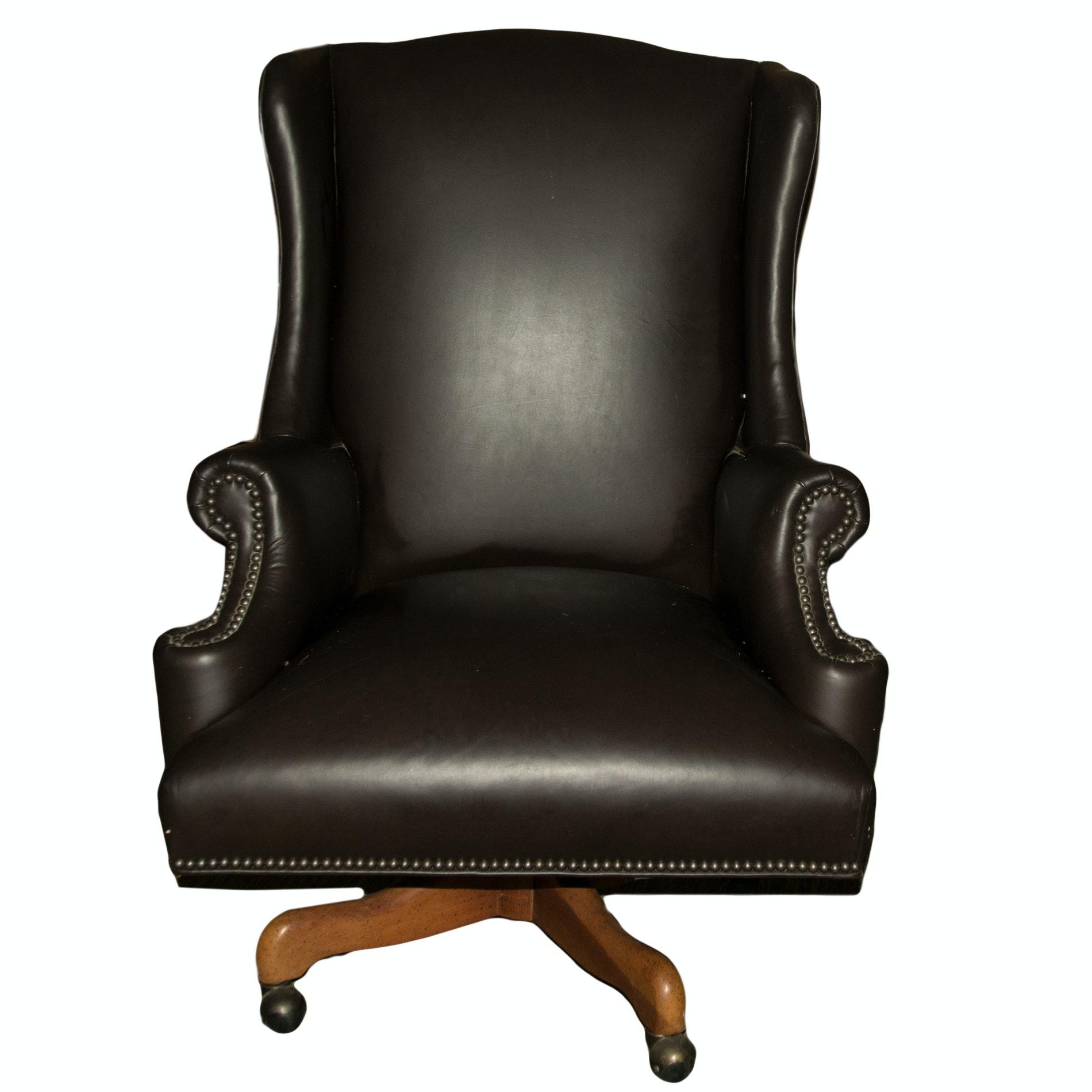 Vintage Wingback Desk Chair